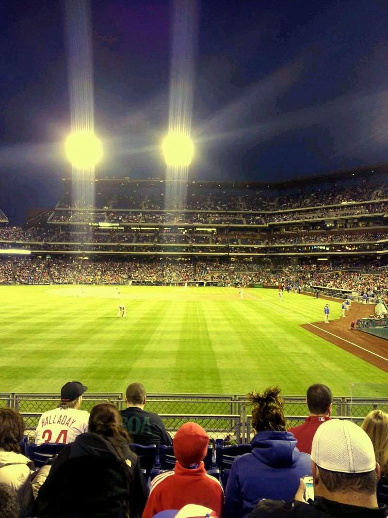 Seating view for Citizens Bank Park Section 142 Row 6 Seat 4
