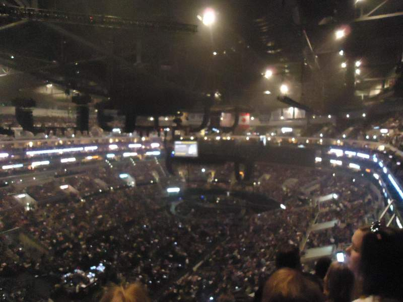 Seating view for Staples Center Section 305 Row 5 Seat 13
