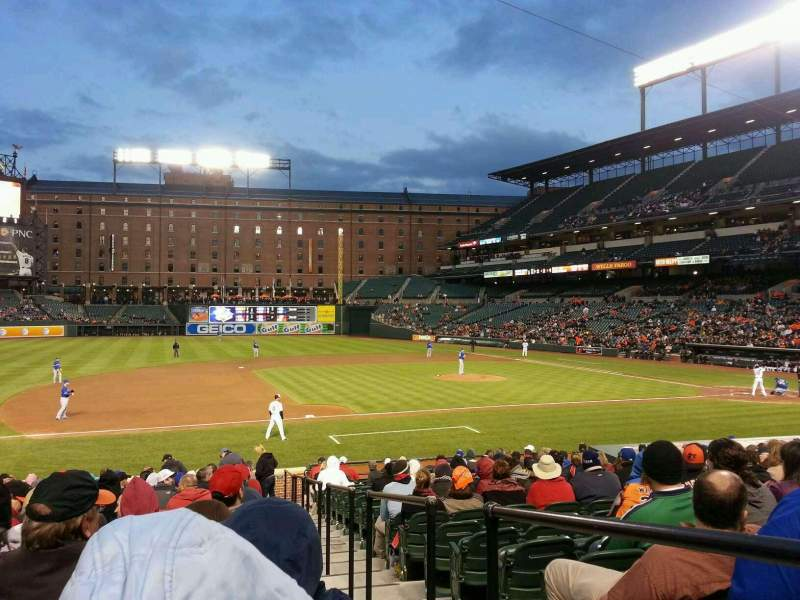 Oriole Park At Camden Yards Section 56 Row 22 Seat 1