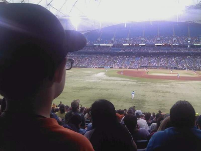 Seating view for Tropicana Field Section 143 Row WW Seat 21