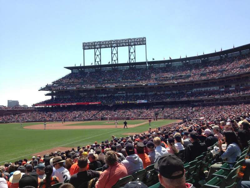 Seating view for AT&T Park Section 131 Row 16 Seat 6
