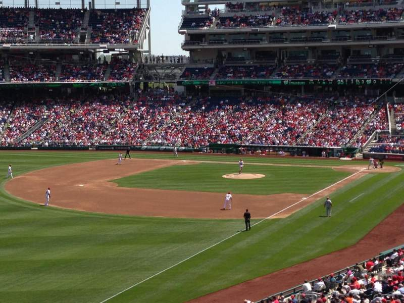 Seating view for Nationals Park Section 202 Row D Seat 19