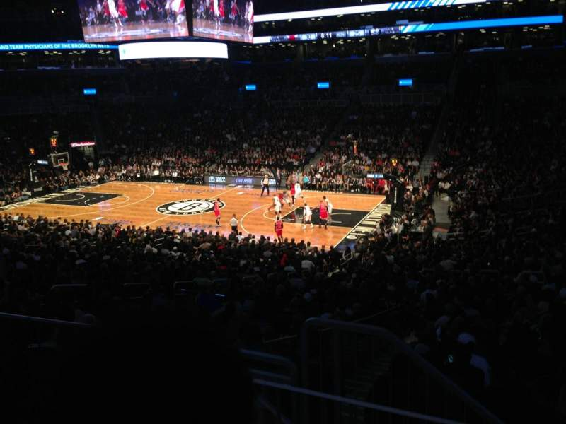 Seating view for Barclays Center Section 121 Row 6 Seat 14