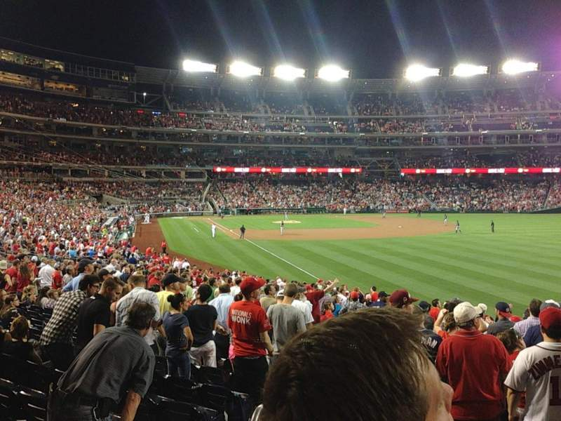 Seating view for Nationals Park Section 137 Row HH Seat 25