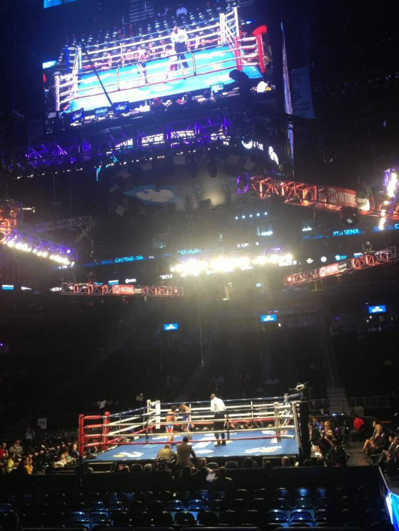 Seating view for Barclays Center Section 8 Row 9 Seat 1