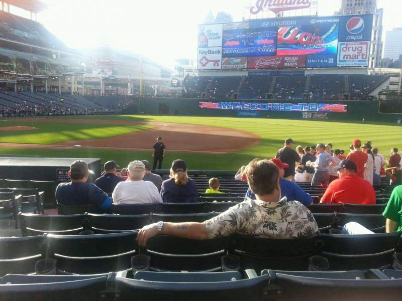 Seating view for Progressive Field Section 138 Row Q Seat 8