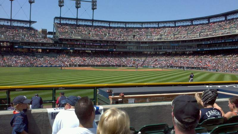 Seating view for Comerica Park Section 150 Row E Seat 10