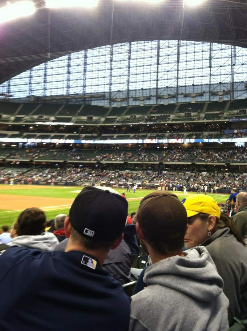 Seating view for Miller Park Section 126 Row 11 Seat 6