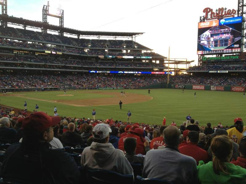 Seating view for Citizens Bank Park Section 111 Row 33 Seat 3