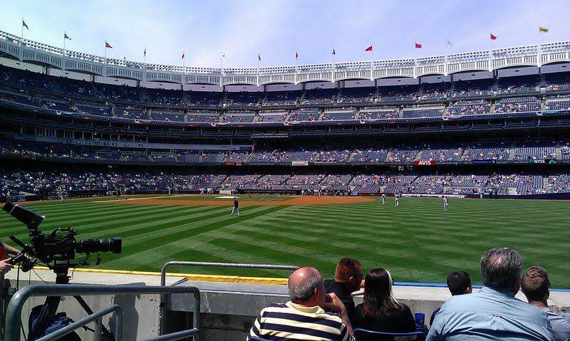 Seating view for Yankee Stadium Section 104 Row 14 Seat 23