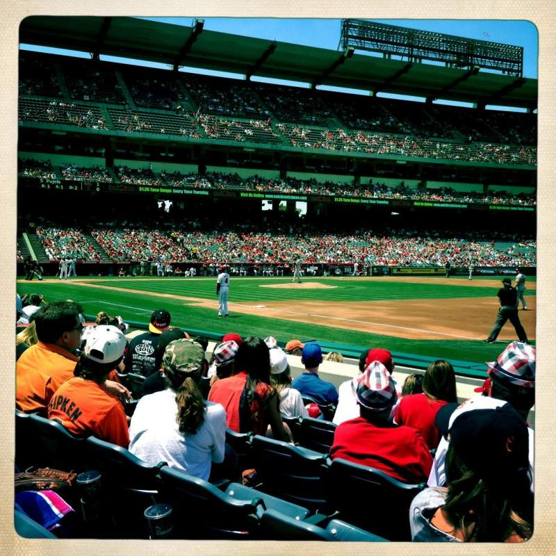 Seating view for Angel Stadium Section F127 Row F Seat 16