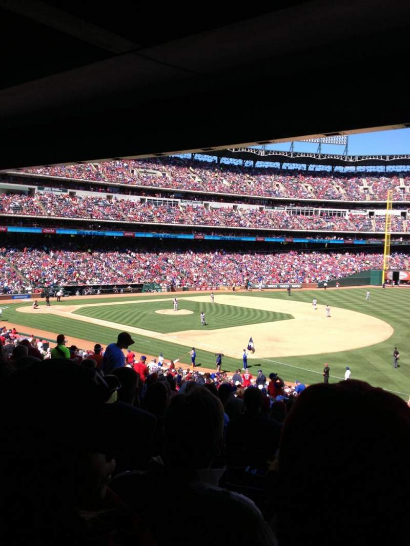 Seating view for Globe Life Park in Arlington Section 138 Row 38 Seat 7