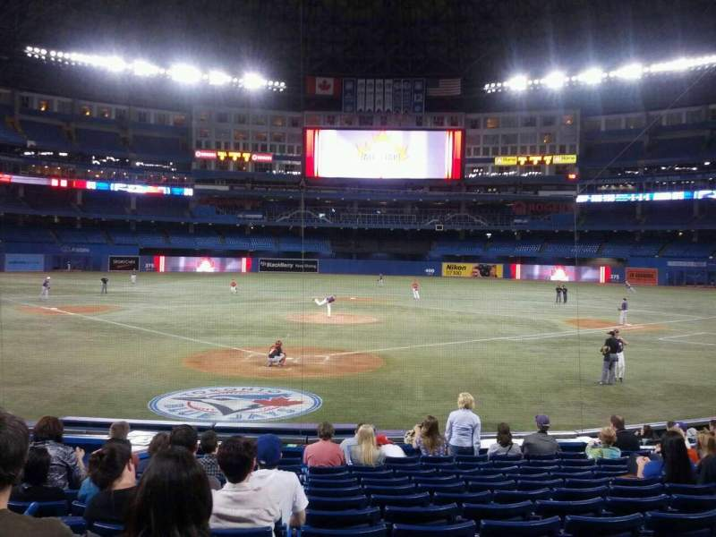 Seating view for Rogers Centre Section 121R Row 17 Seat 8
