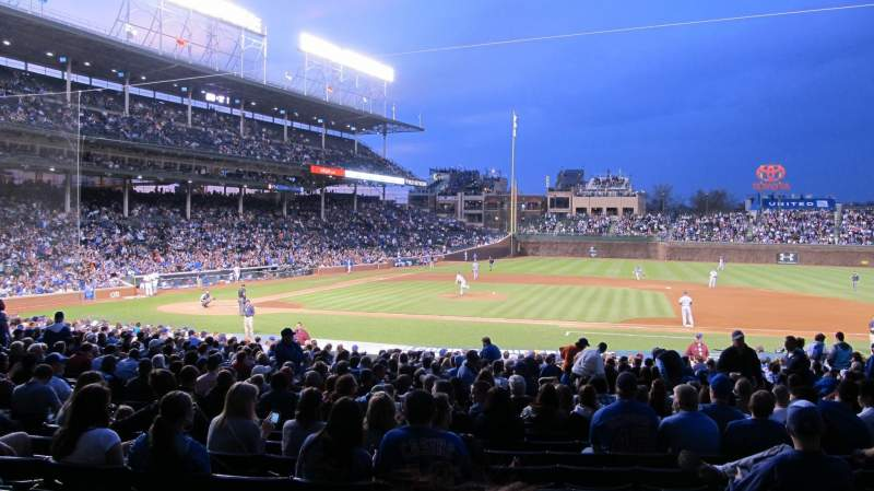 Seating view for Wrigley Field Section 129 Row 14 Seat 1