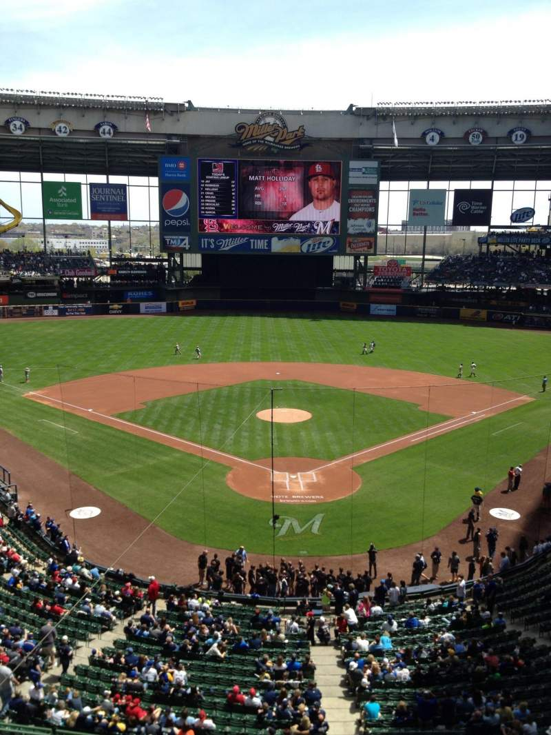 Seating view for Miller Park Section 330 Row 1 Seat 1