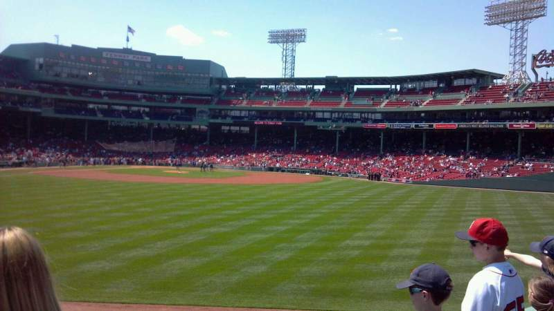 Seating view for Fenway Park Section Bleacher 37 Row 2
