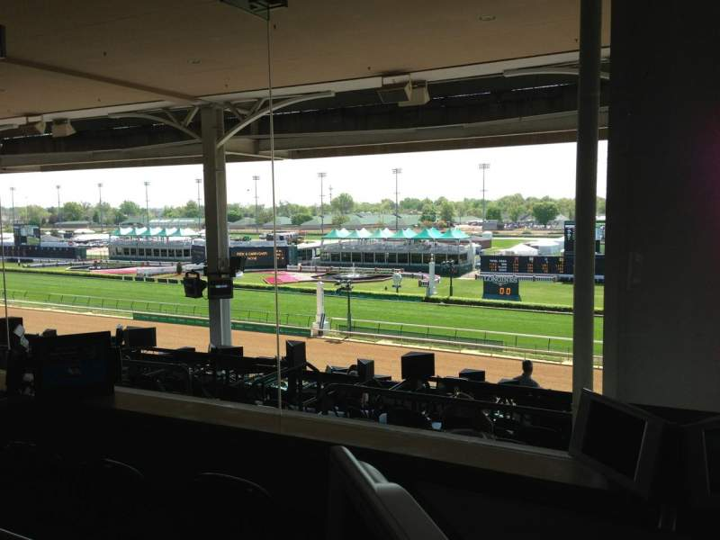 Seating view for Churchill Downs Section IPB Row B8 Seat 1