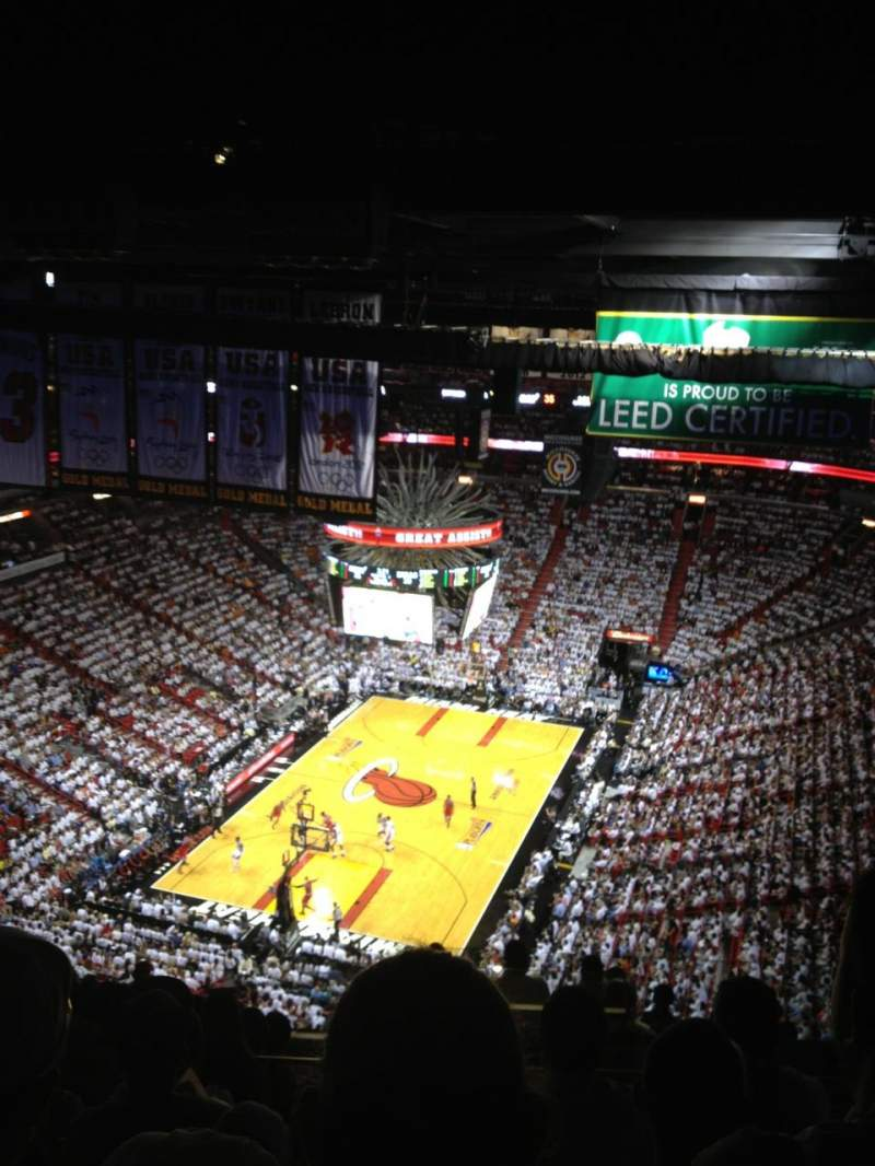 Seating view for American Airlines Arena Section 402 Row 12 Seat ??