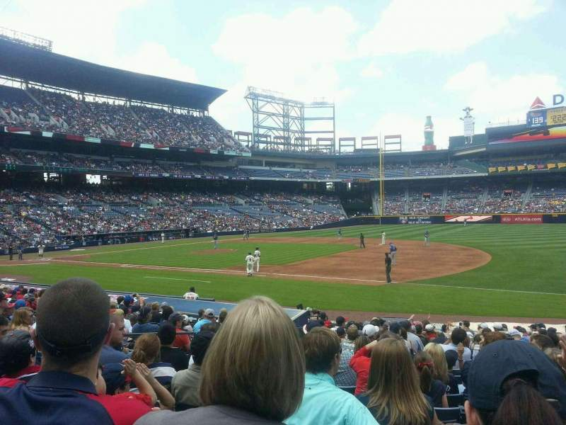 Seating view for Turner Field Section 117 Row 19 Seat 7
