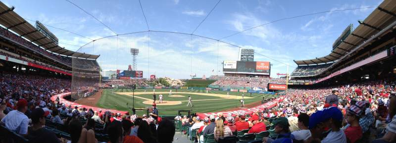 Seating view for Angel Stadium Section 119 Row N Seat 8