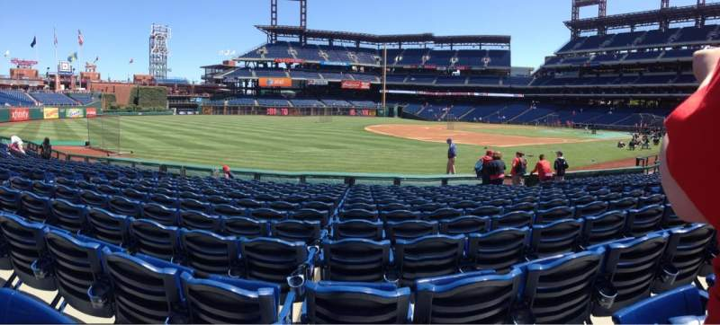 Seating view for Citizens Bank Park Section 135 Row 13 Seat 9