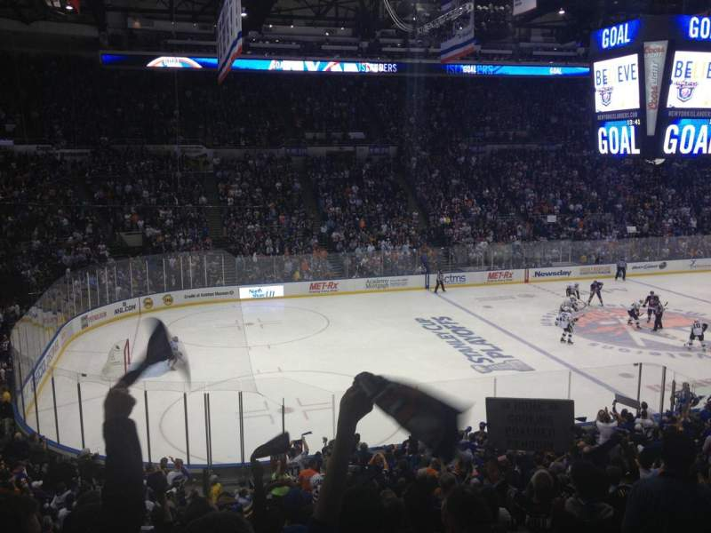 Seating view for Old Nassau Veterans Memorial Coliseum Section 220 Row L Seat 1