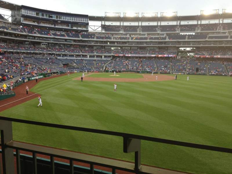 Seating view for Nationals Park Section 139 Row T Seat 16