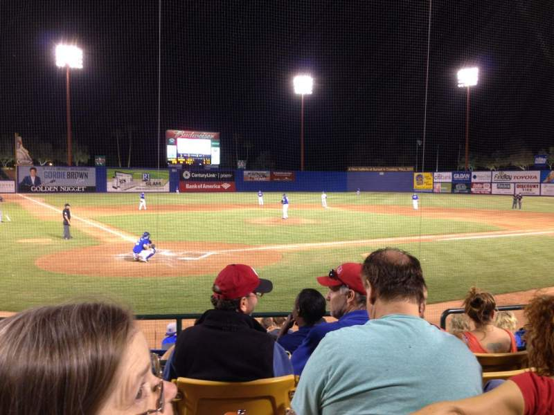 Seating view for Cashman Field Section 14 Row E Seat 1