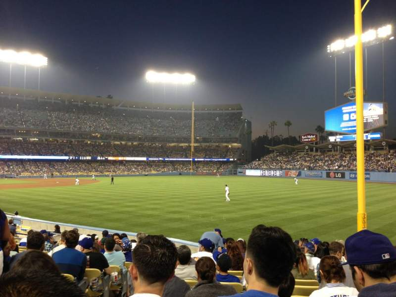 Seating view for Dodger Stadium Section 48FD Row O Seat 3