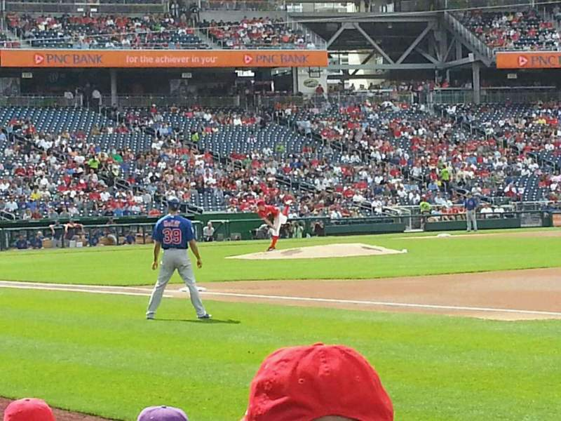 Seating view for Nationals Park Section 133 Row F  Seat 10