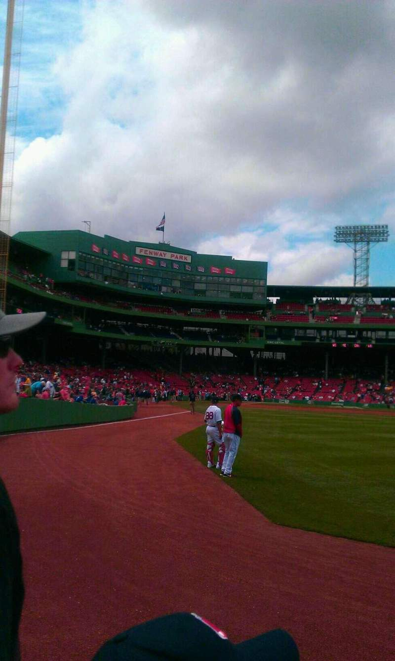 Seating view for Fenway Park Section RIGHT FIELD BOX 2 Row C Seat 8