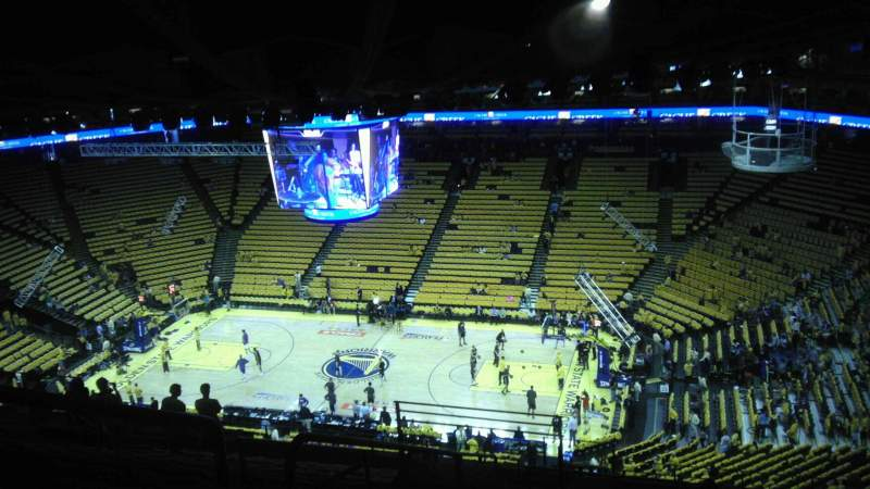Seating view for Oracle Arena Section 230 Row 16 Seat 22