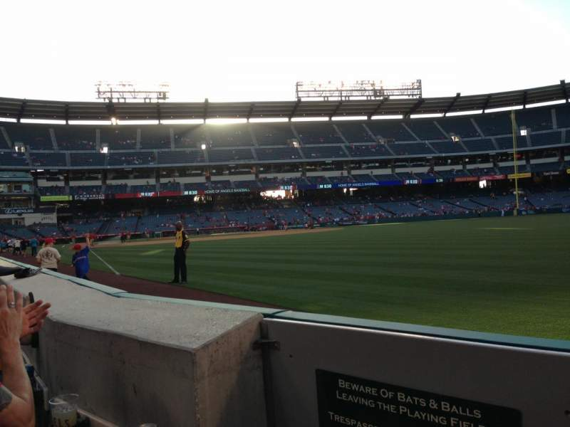 Seating view for Angel Stadium Section 133 Row A Seat 1