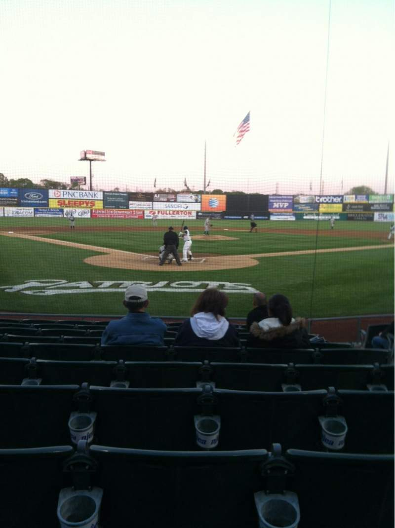 Seating view for TD Bank Ballpark Section 101 Row J Seat 4