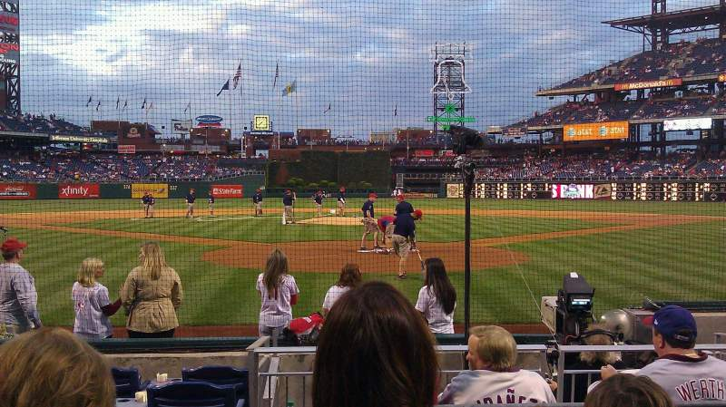 Seating view for Citizens Bank Park Section D Row 8