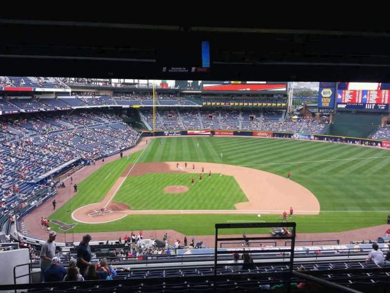 Seating view for Turner Field Section Club Level Suite 28