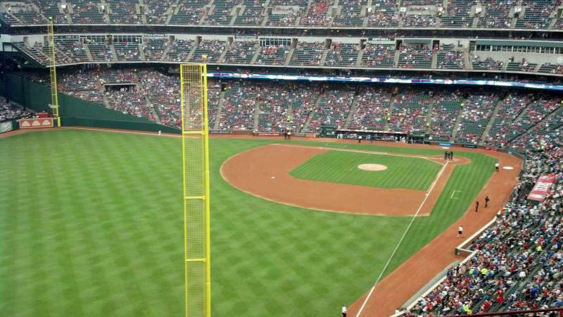 Seating view for Globe Life Park in Arlington Section 308 Row 6 Seat 11