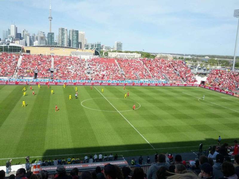 Seating view for BMO Field Section 224 Row 12 Seat 12