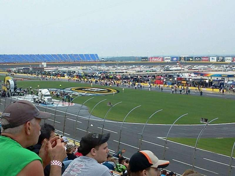 Seating view for Charlotte Motor Speedway Section Ford J Row 24 Seat 10