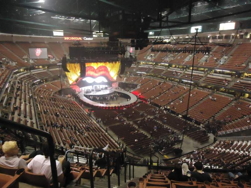 Seating view for Honda Center Section 404 Row N Seat 13