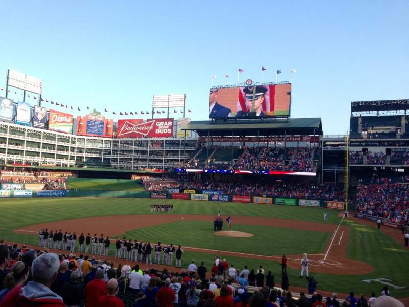 Seating view for Globe Life Park in Arlington Section 22 Row 25 Seat 8