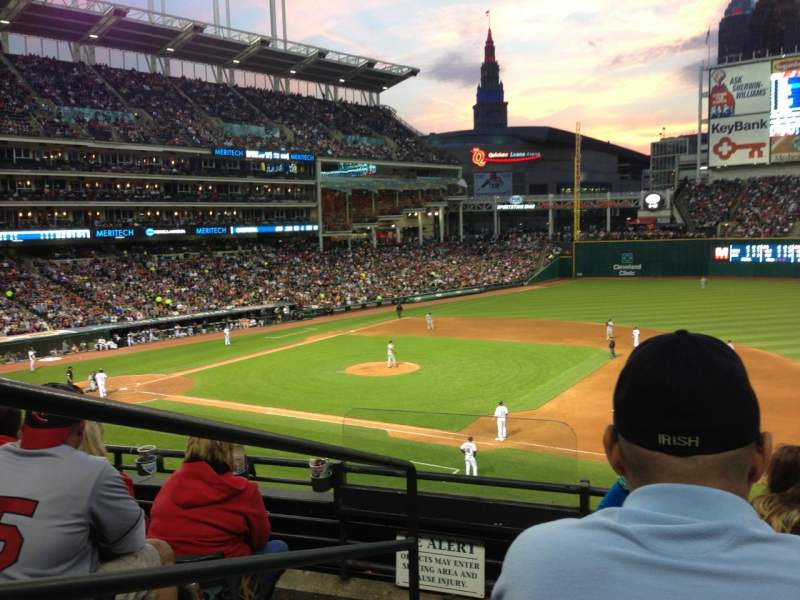 Seating view for Progressive Field Section 338 Row D Seat 10
