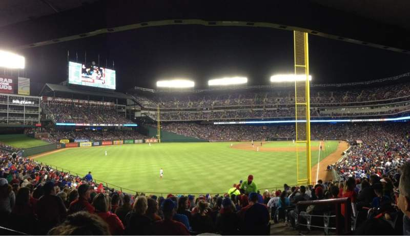 Seating view for Globe Life Park in Arlington Section 8 Row 18 Seat 3