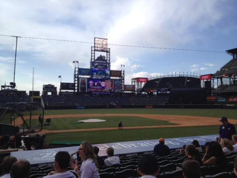 Seating view for Coors Field Section 125 Row 15 Seat 14