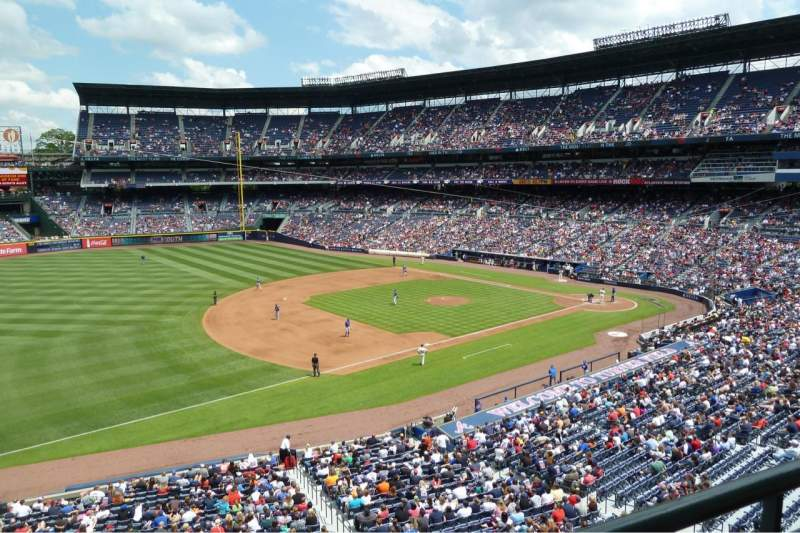 Seating view for Turner Field Section 318L Row 1 Seat 9