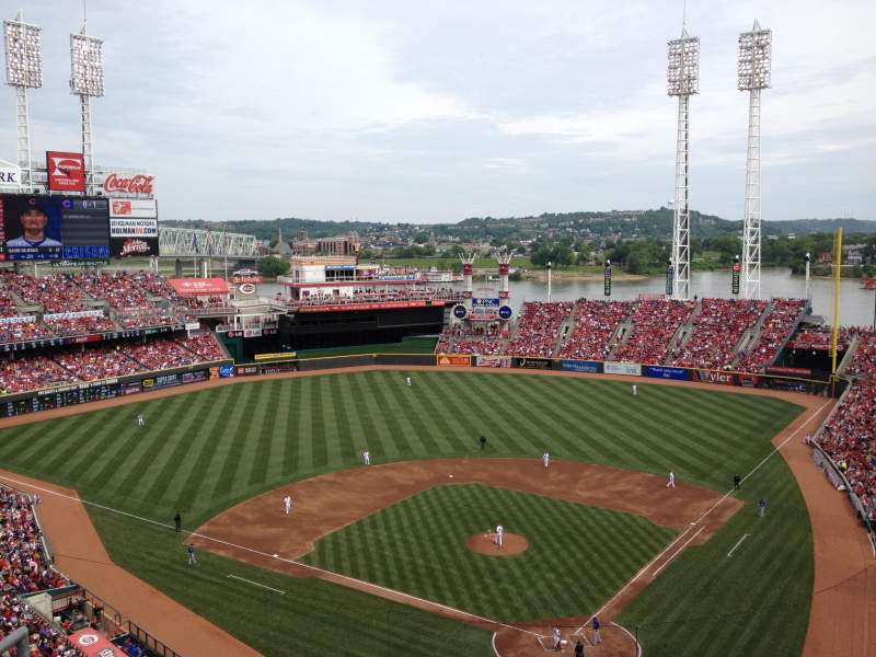 Seating view for Great American Ball Park Section 522 Row A Seat 12