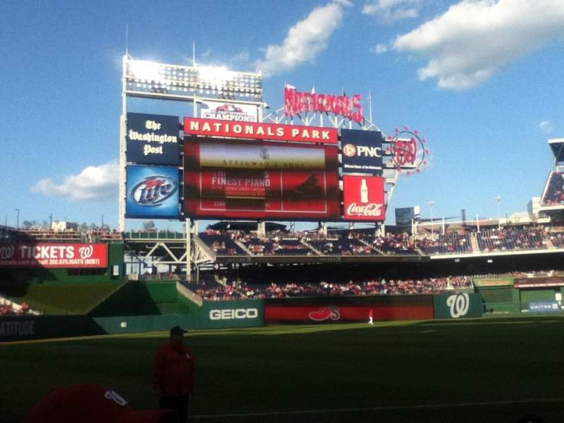 Seating view for Nationals Park Section 111 Row g Seat 7