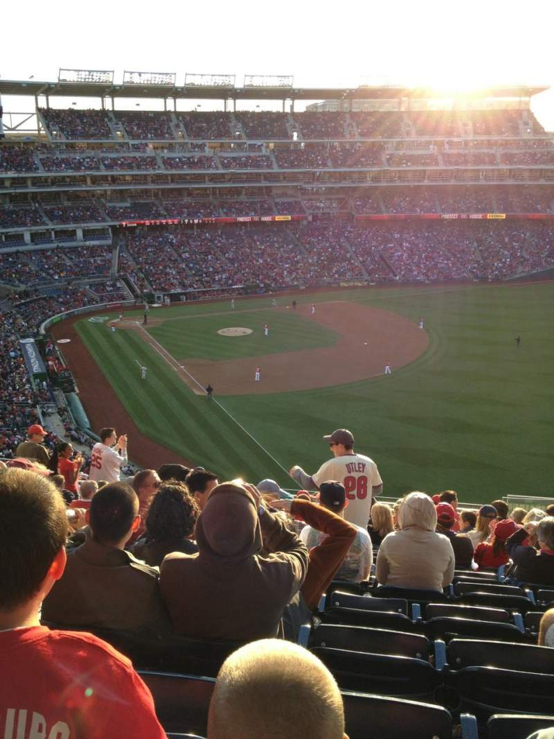 Seating view for Nationals Park Section 230 Row S Seat 8