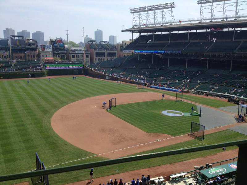 Seating view for Wrigley Field Section 409 Row 1 Seat 3
