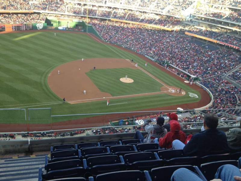 Seating view for Nationals Park Section 406 Row F Seat 12